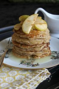 Oatmeal Pancakes w/ Buttermilk Syrup {Gluten-Free}