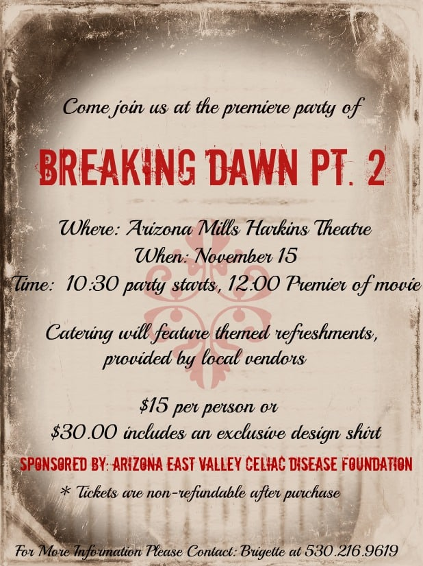 THE Breaking Dawn Part 2 Premiere Party for Arizona PLUS custom shirts for ALL!!!