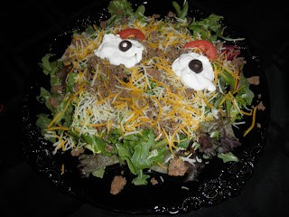 Gluten Free Halloween! Monster Taco salad…