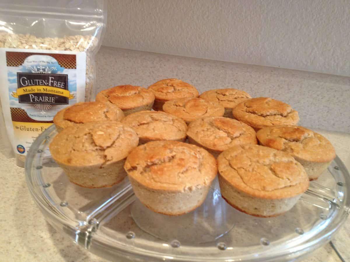 Gluten Free Oatmeal-Banana High Protein Muffins