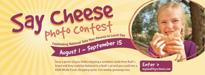 Rudi's Say Cheese Photo Contest and a $75 GIVEAWAY including a Canon Powershot Camera!!