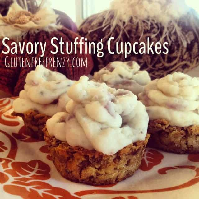 Savory Stuffing Cupcakes and a Rudi's Gluten Free Bakery Giveaway!!