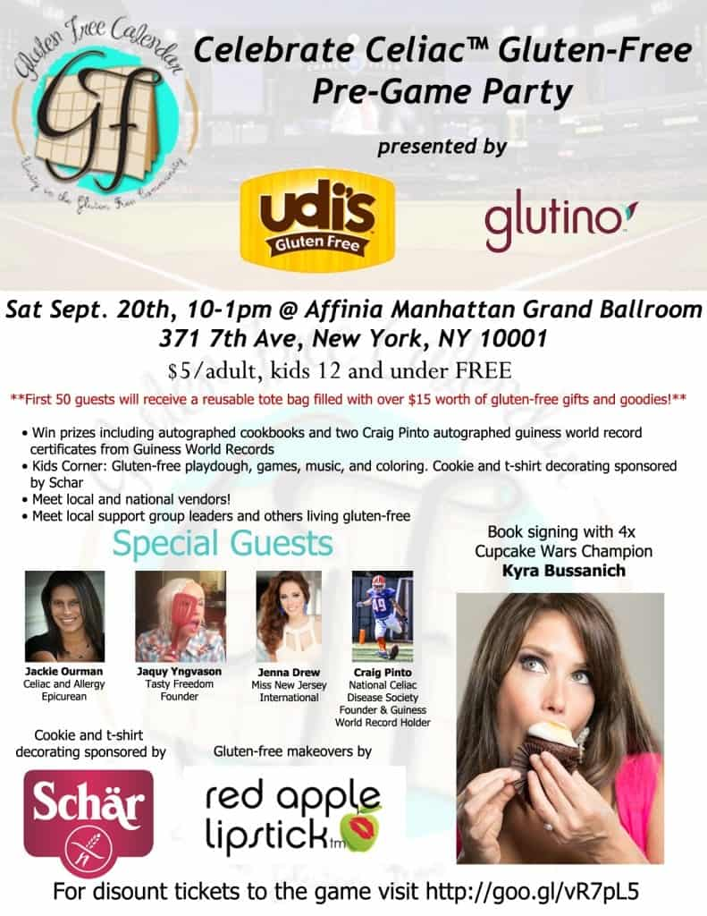 Celebrate Celiac™ NYC Gluten-Free Party!!