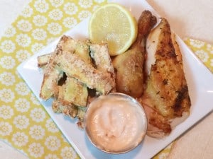 Roasted Chicken & Baked Gluten-Free Zucchini Fries