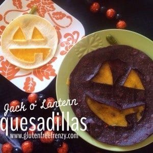 Gluten-Free Jack o' Lantern Quesadillas
