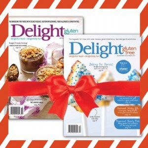 25 Days of Gluten-Free Giveaways™ #2-Delight Gluten Free Magazine & Cookbook (SEVEN winners!!)