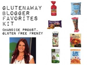 I am featured for this month for Gluten Away's Blogger Favorites Kit!
