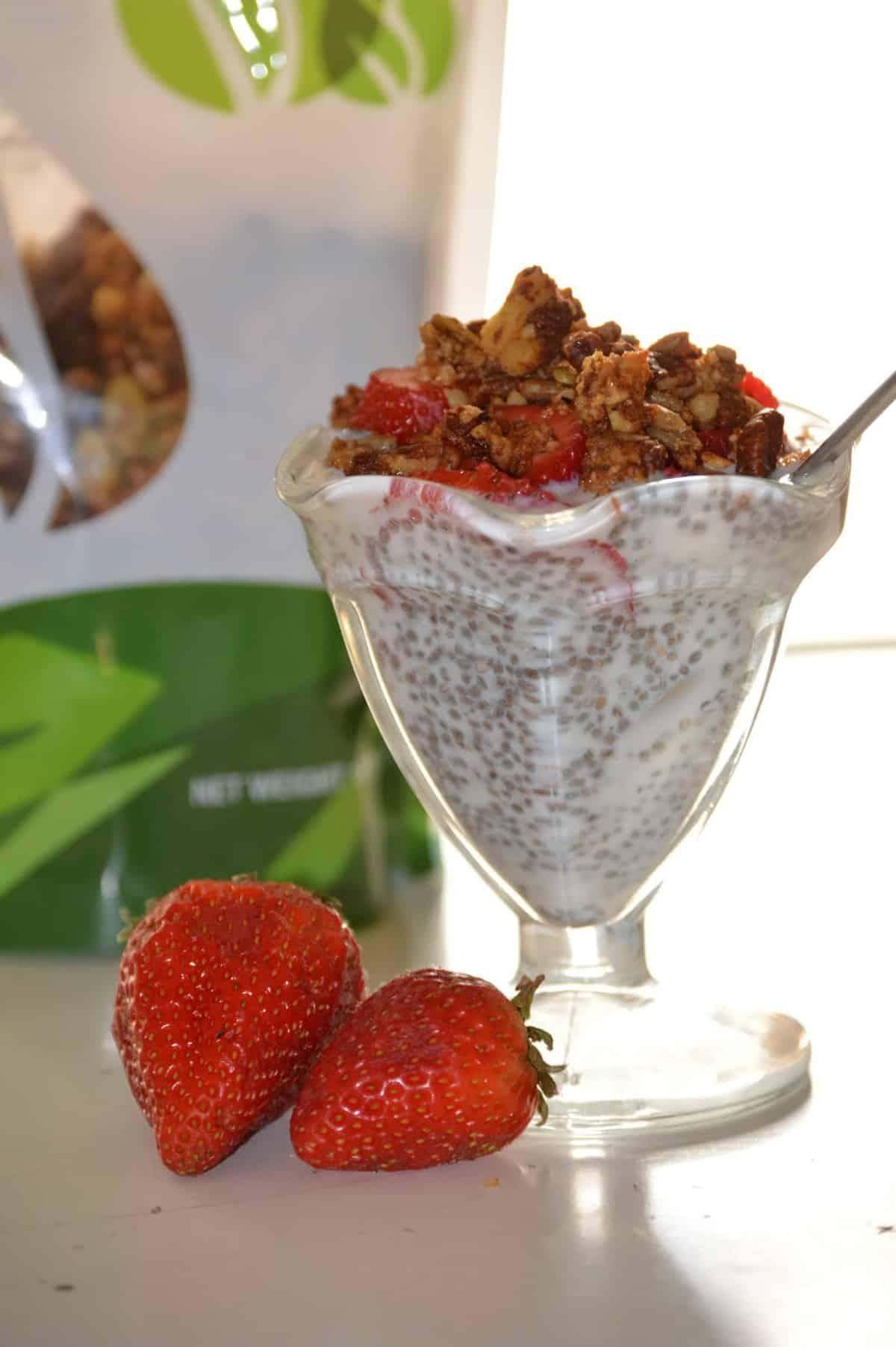 Hazelnut Chia Pudding {Paleo, Vegan}