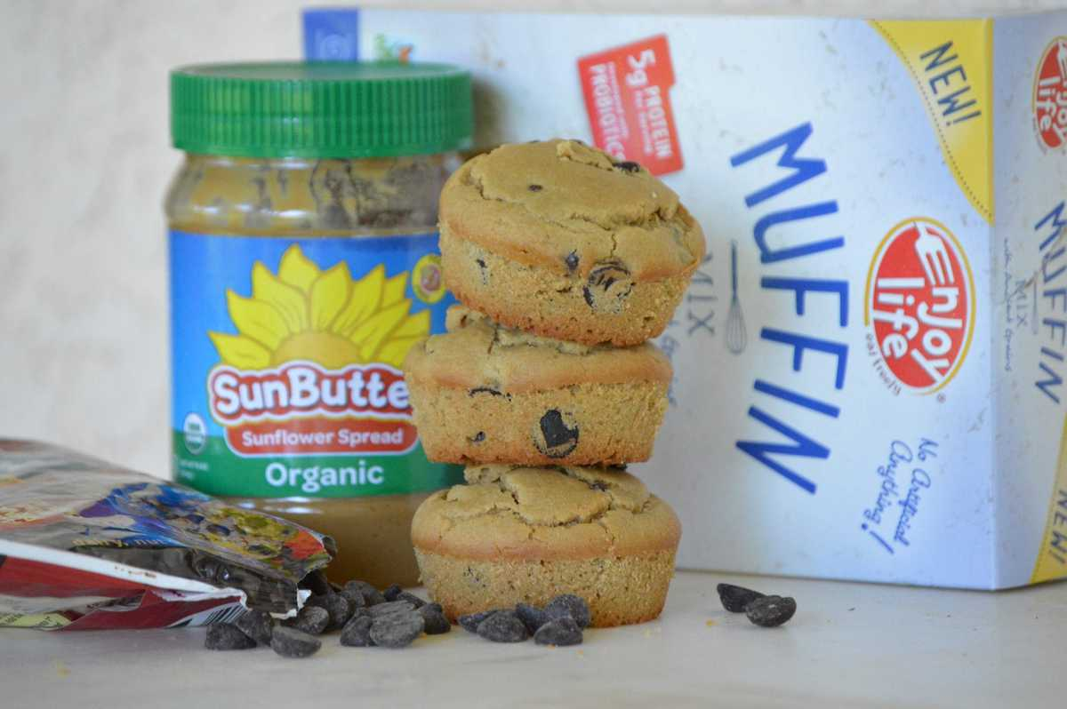 Enjoy Life Chocolate Chip & Sunbutter Top 8 Allergen-Free Muffins