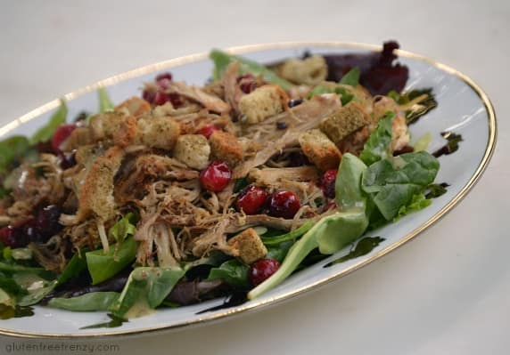 Thanksgiving Leftovers Salad {Gluten-Free, Dairy-Free} & Three Bakers Giveaway