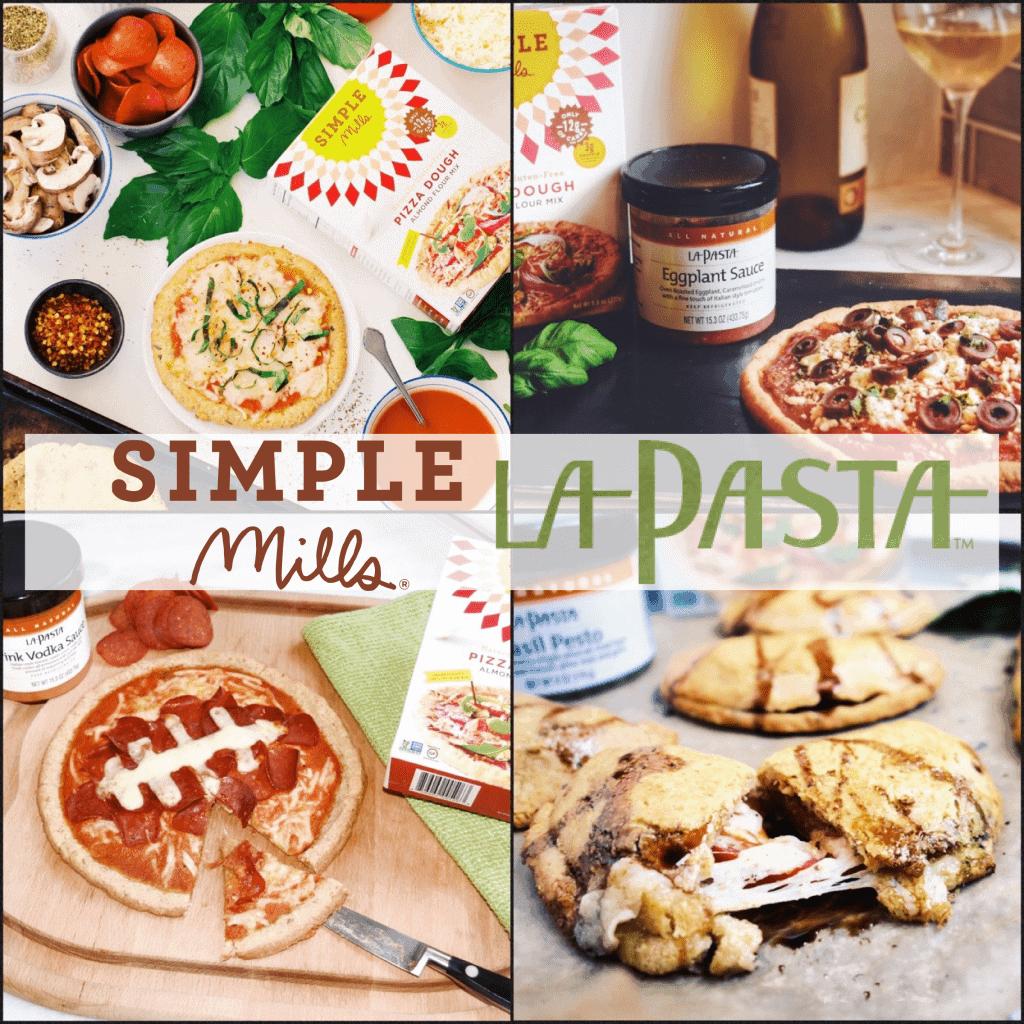 Simple Mills LaPasta pizza 4 ways