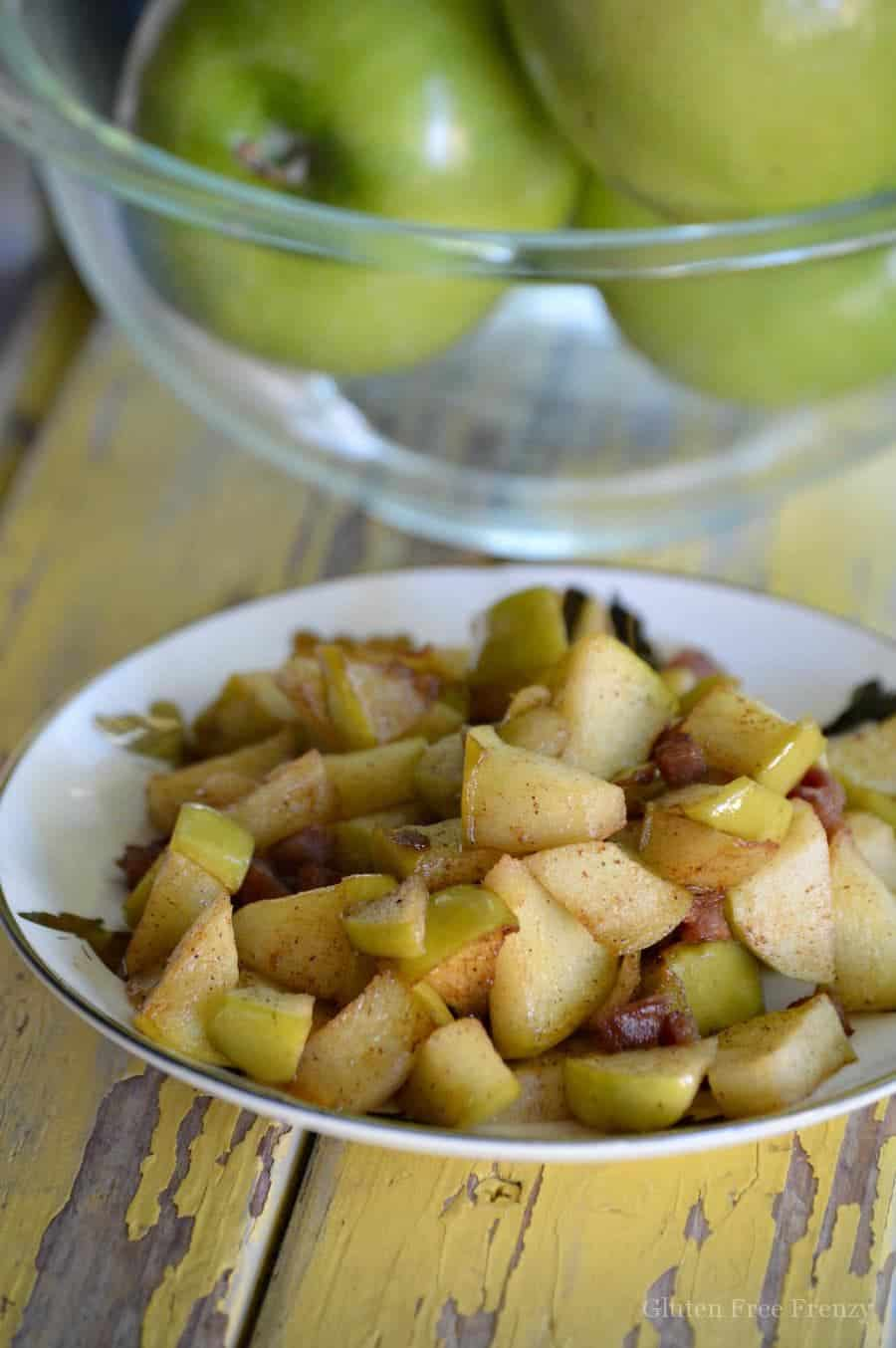 Candied Bacon Fried Apples