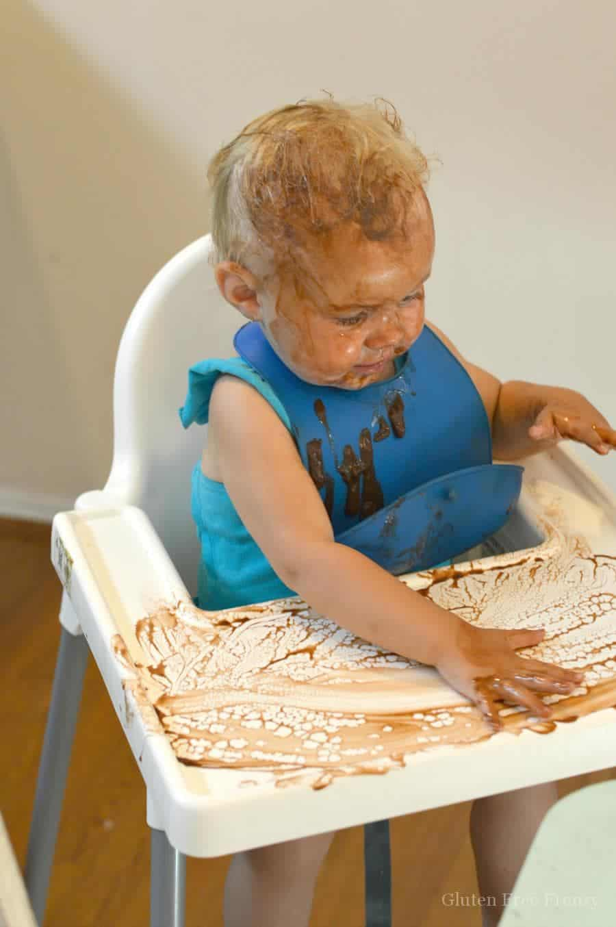 Homemade pudding and pudding painting fun