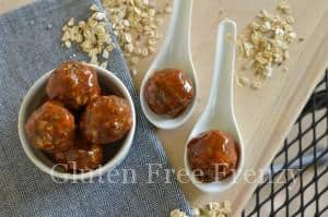 Smoky Chipotle & Peach Meatballs {Gluten-Free}