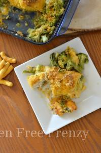 Cheddar & Broccoli Stuffed Crispy Chicken