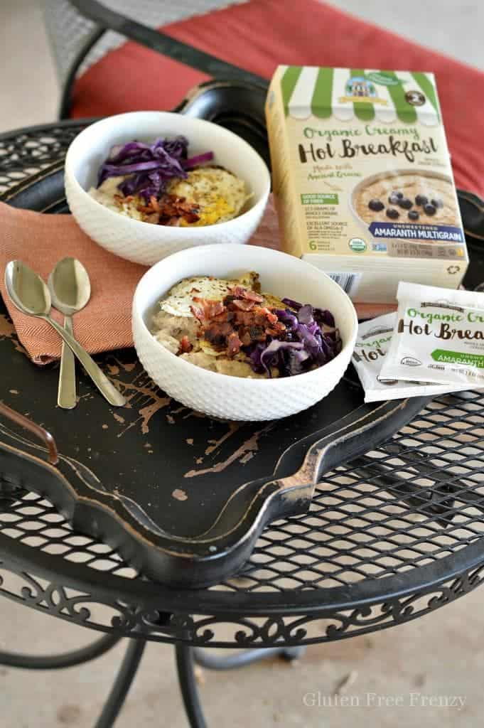 These savory breakfast cereal bowls are full of flavor and nutrients. The smoky flavor of the bacon really takes this breakfast dish to the next level. glutenfreefrenzy.com