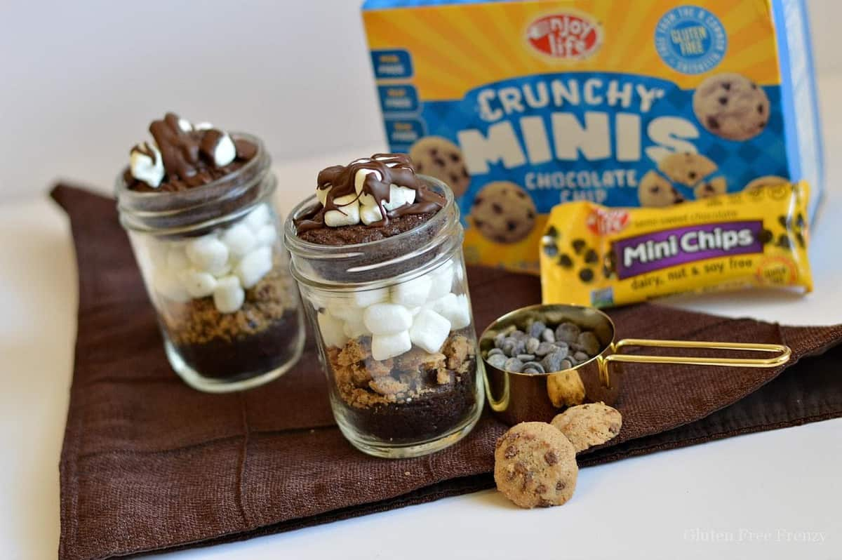 Chocolate Marshmallow Brownies in a Jar