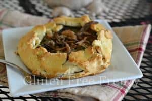 Gluten-Free Green Bean Casserole Galettes with Fried Onions