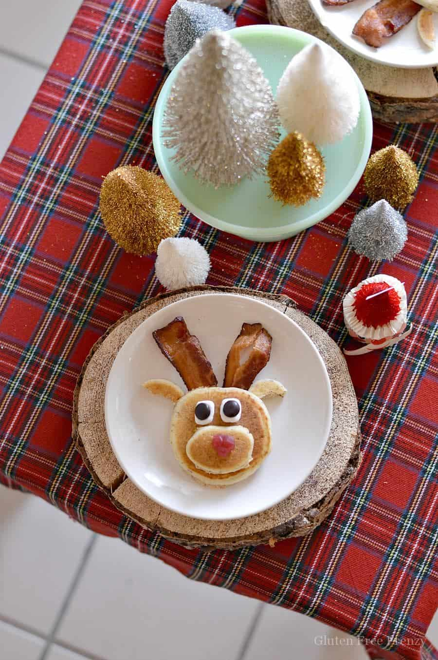 Mini Reindeer Pancake Party Gluten-Free