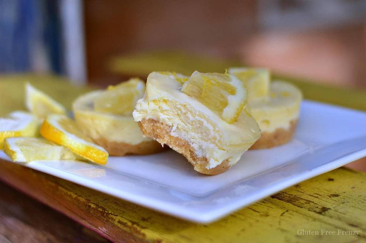 Gluten-Free Lemon Ginger Cheesecakes