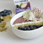 Blueberry Heart Smart Smoothie Bowl