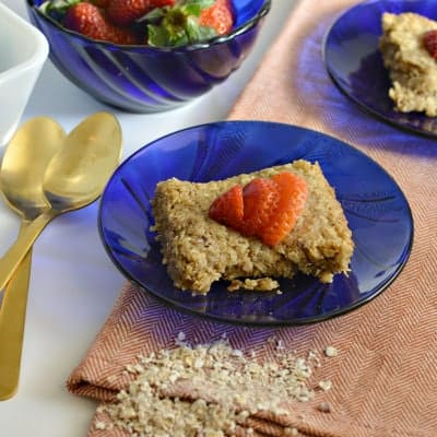 Gluten-Free Strawberry Shortcake Breakfast Bars