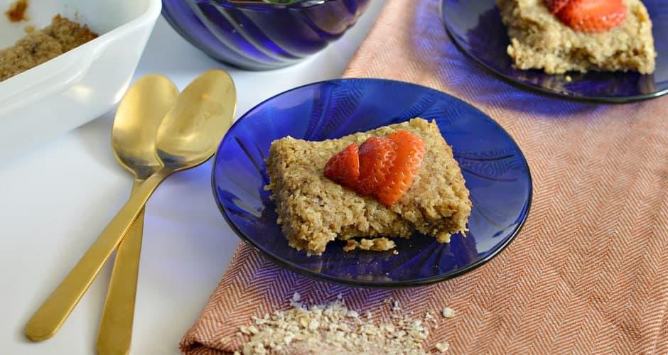 Gluten-Free Strawberry Shortcake Breakfast Bars