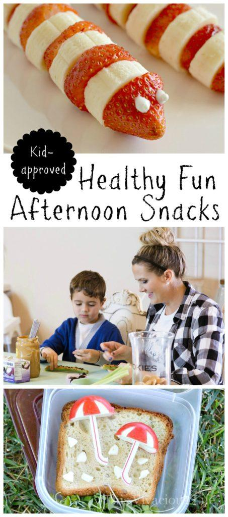 Healthy and fun afternoon snacks that are are fun to make as they are to eat. They are gluten-free, and easy to make with the kids.