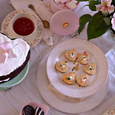 Vintage Valentines Tea Party & Savory Crab Cheesecakes