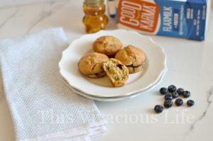 Gluten-Free Dairy-Free Blueberry Power Muffins