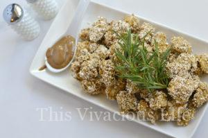 Rosemary Oaty Chicken Nuggets with Copycat Hot Mustard