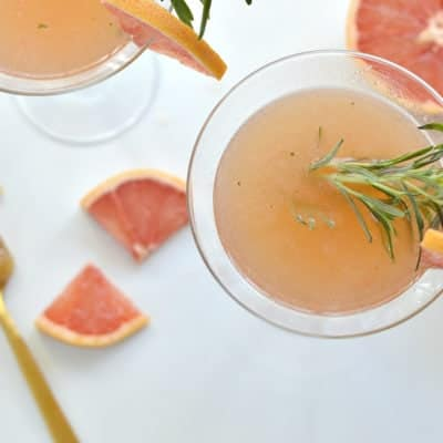 Rosemary and Grapefruit Honey Mocktail