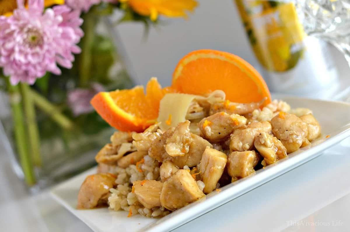 Gluten-Free Sticky Orange Ginger Chicken with Coconut Rice