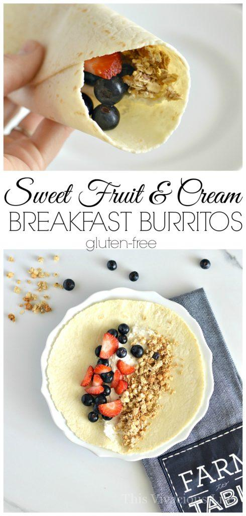 Sweet breakfast burritos gluten-free are an easy and delicious breakfast to start the day.