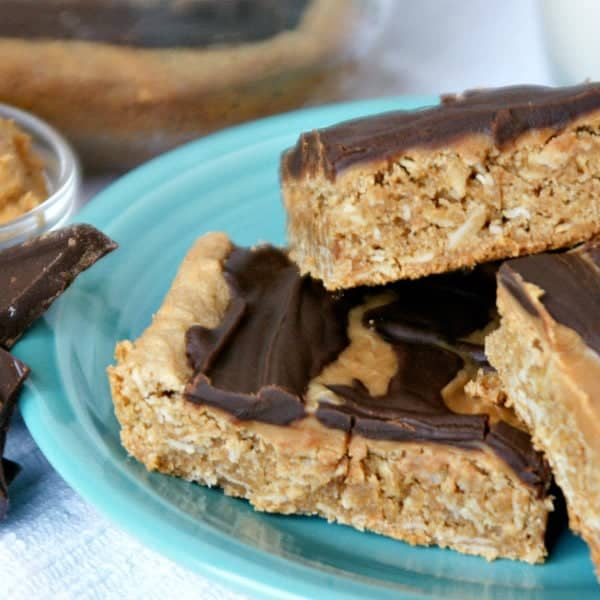 Gluten-Free Peanut Butter Bars with Chocolate Peanut Butter Frosting