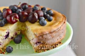 Gluten-Free Almond Cherry Cheesecake