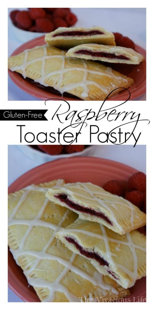 This gluten-free raspberry toaster pastry is flaky, fruity and so delicious that you can serve it up to anyone and they will enjoy it. Breakfast will never be the same again!