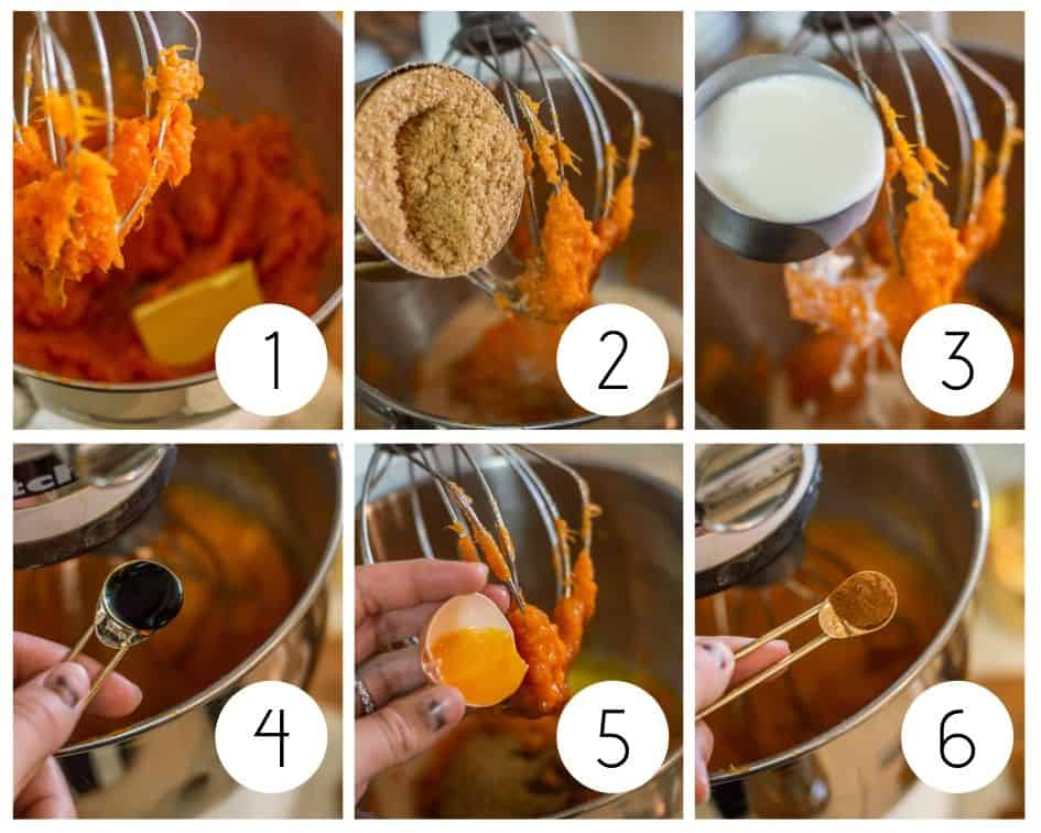 step by step photos of sweet potato casserole