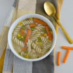 This gluten-free chicken noodle soup is the best recipe around. It is homemade and oh so delicious!