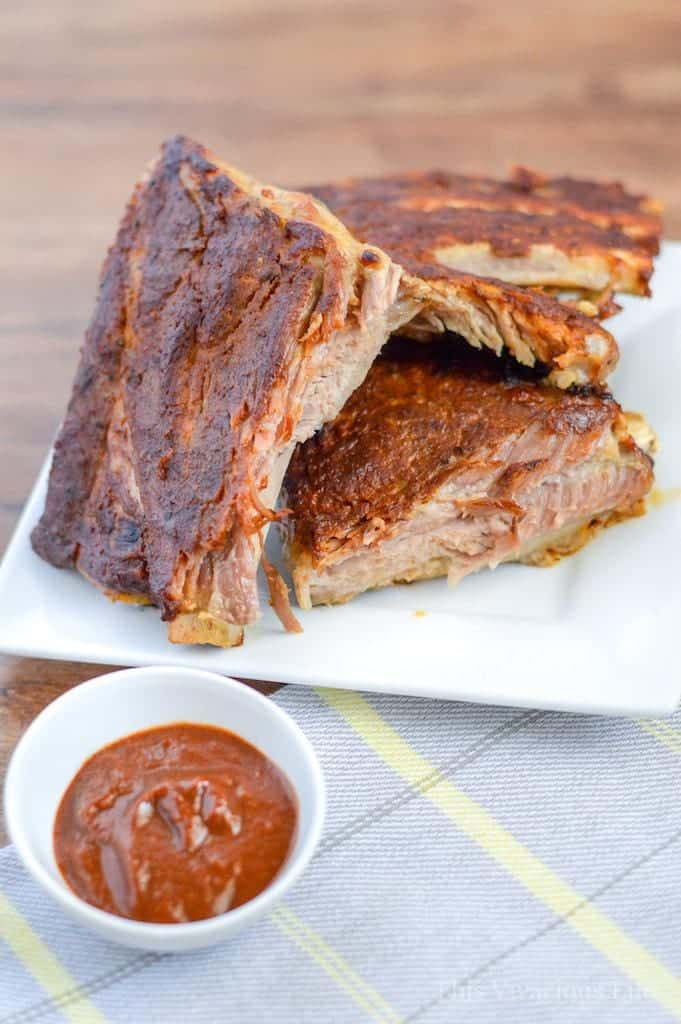 I love making these Instant Pot Whole30 ribs because they are fall of the bone tender with the delicious crispy outer layer all in under 45 minutes.