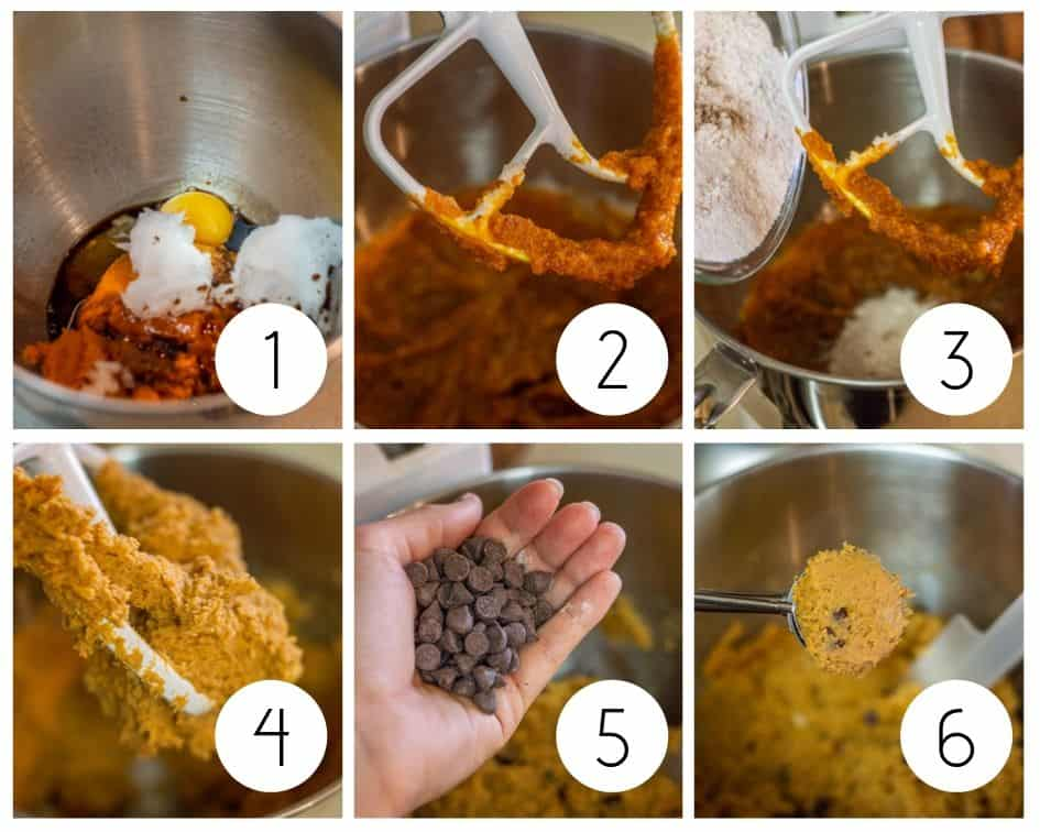 Step by step photos for gluten-free pumpkin cookies