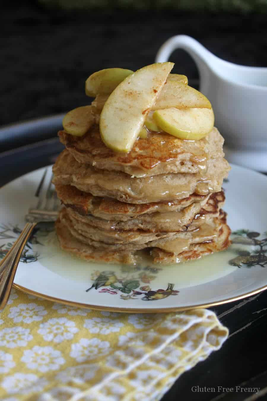 Oatmeal Pancakes w/ Buttermilk Syrup {Gluten-Free}