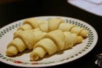 Gluten-Free Crescent Rolls on a plate