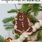Gingerbread ornament on a tree