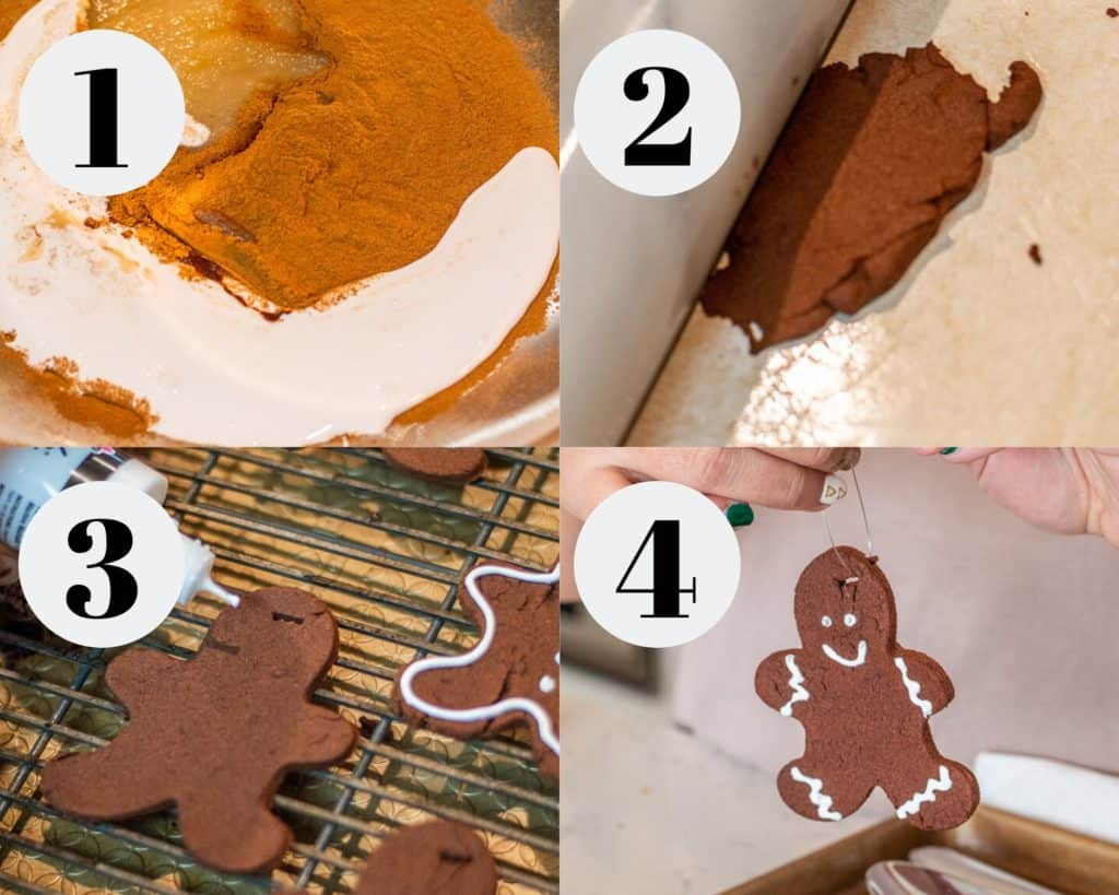 Step by step directions for making gingerbread ornaments