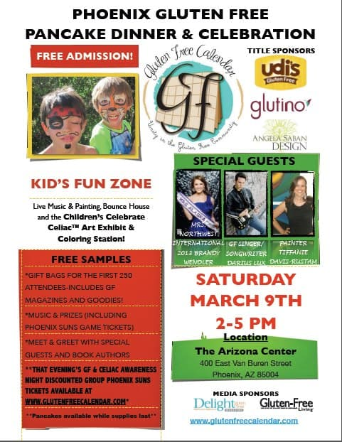 Celebrate Celiac™ Community Gluten Free Event-FREE Pancake Dinner, LIVE Music, Vendors Sampling & Selling, Kids Fun Zone and more!!