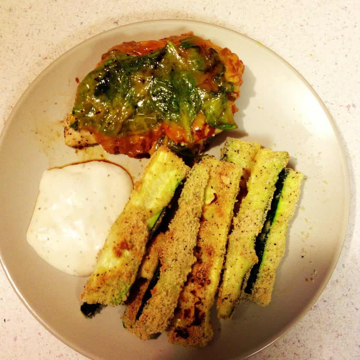 Spicy Salsa Chicken and Baked Zucchini Fries- by GFF recipe contributor, Brittney Long