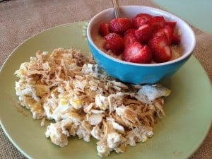 Egg white pork scrample