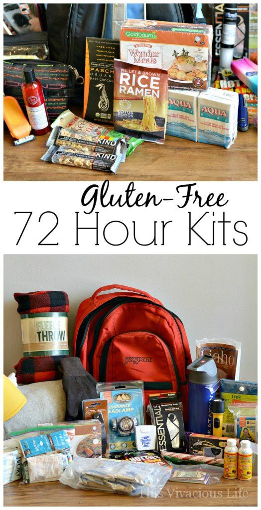 These gluten-free 72 hour kits are perfect for those living with celiac disease or gluten-free. They are all you need come an emergency. | emergency preparedness kits | gluten free emergency preparedness kits | 72 hour gluten free kits | how to be prepared for an emergency | preparing for an emergency | 72 hour emergency kits | what to pack in an emergency preparedness kit || This Vivacious Life