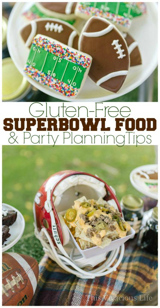 Gluten-Free Super Bowl Food | gluten-free appetizers and treats | gluten-free party food | gluten-free tailgate recipes | Super Bowl recipes | super bowl party ideas || This Vivacious Life #superbowl #partyrecipes #glutenfreepartyfood